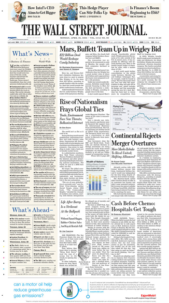 Wall Street Journal 28 April 2008.