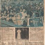 """""""El Fervor hiso arrodillarse a millones"""" El Universal. Mexico, 27 de Enero de 1979,"""