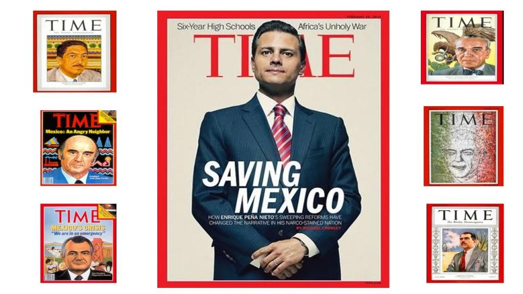 9 presidentes de México han sido portada de la revista Time.