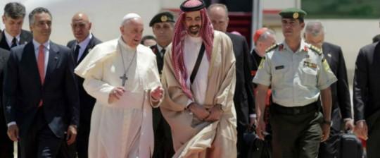 El Papa Francisco en Jordania. Mayo 24, 2014. M24Digital.com
